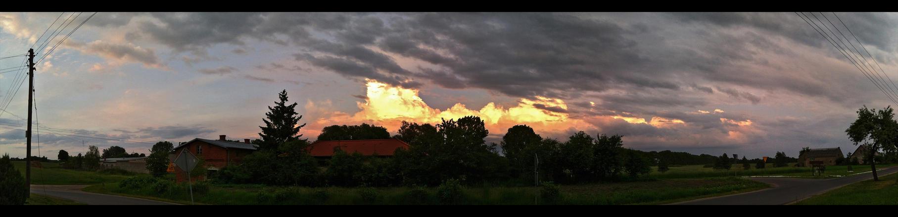 Dzwierszno Male Fire Clouds by skywalkerdesign