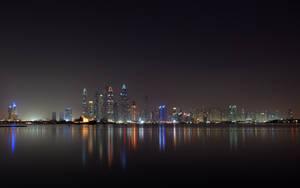 Dubai At Night (Oceana Beach) by skywalkerdesign