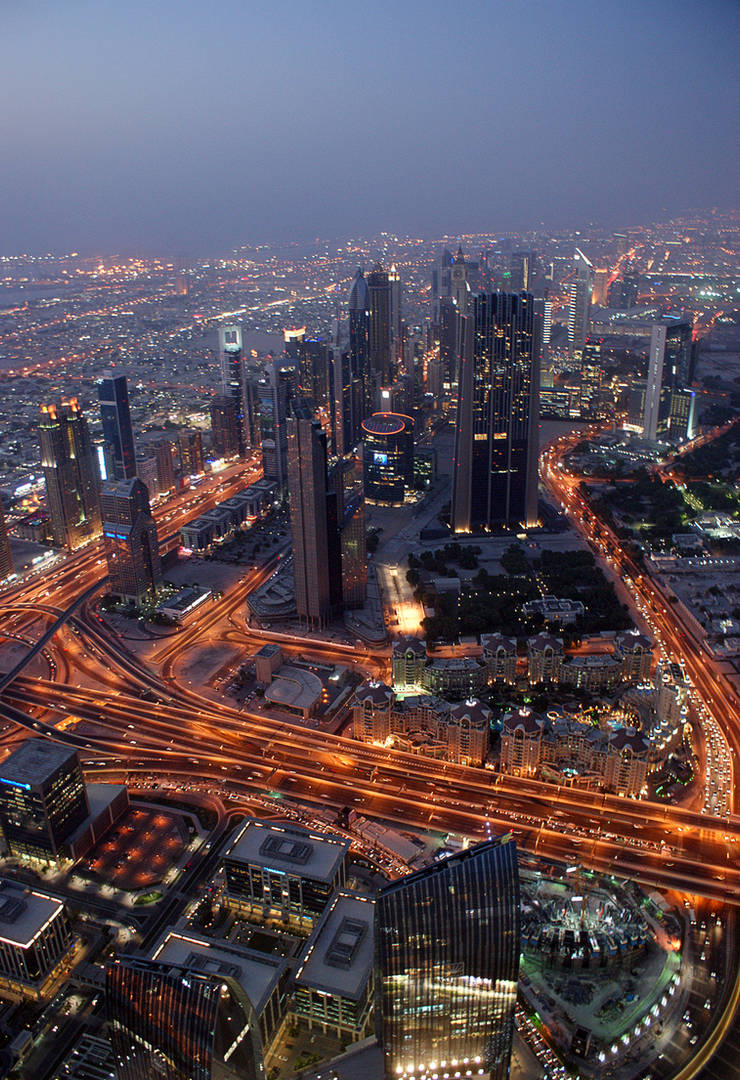 Dubai At Night (City) by skywalkerdesign