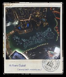 Hi From Dubai (Burj Khalifa) No. 2 by skywalkerdesign
