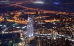 Dubai At Night (Burj Khalifa) Wallpaper Edition