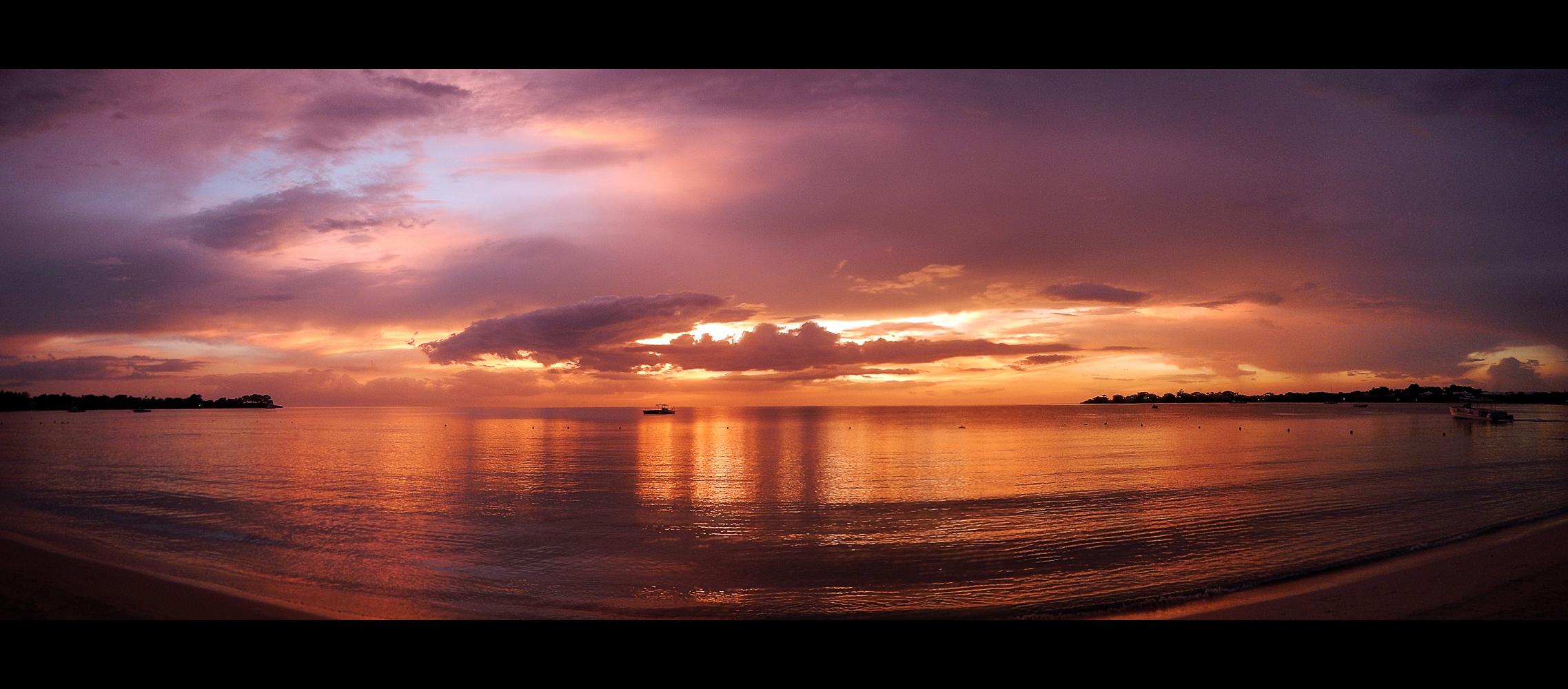 Sunset Jamaica Beach by skywalkerdesign