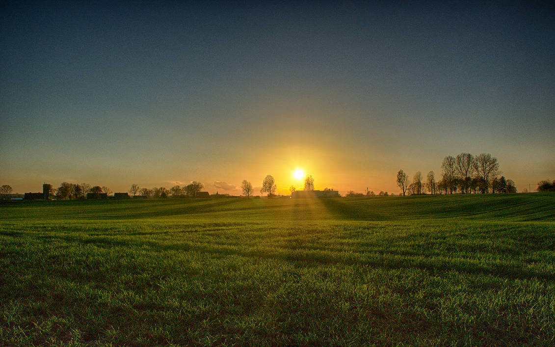 Dzwierszno Male Sunset (HDR) No. 2 by skywalkerdesign