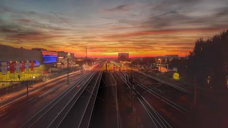 Sunset Wolfsburg (HDR) by skywalkerdesign