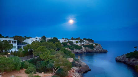 Night at Cala d'Or by skywalkerdesign