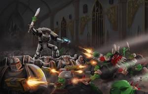 Warhammer 40k   Holding against Orks