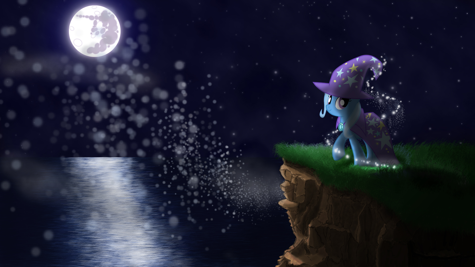 Trixie's Glittery Night by StreamlinedPegasus