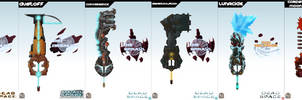 Keyblade Cards -  Dead Space Set 1 by IronClark