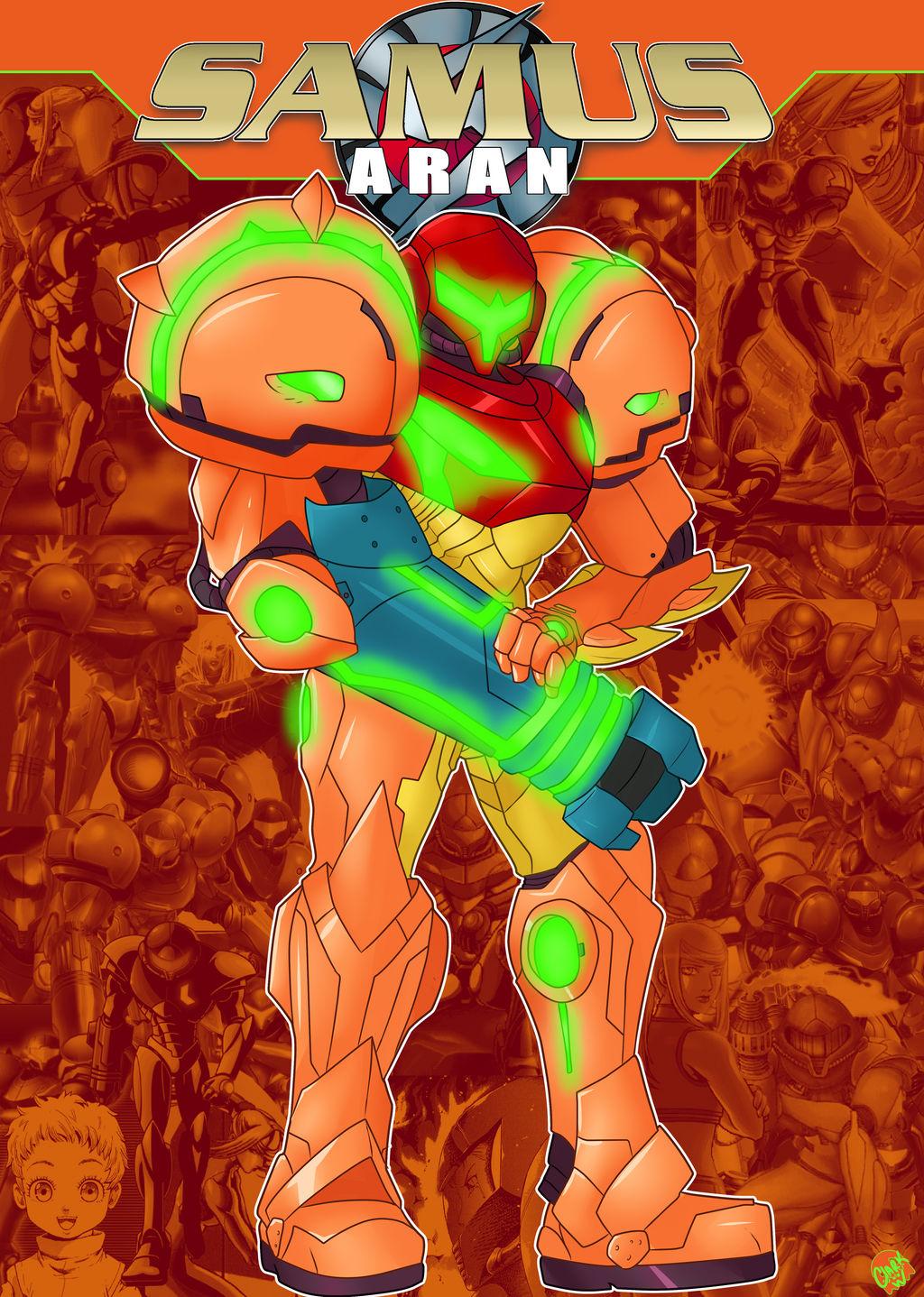Samus Aran Bounty Hunter Vector Art by bulletreaper117 on