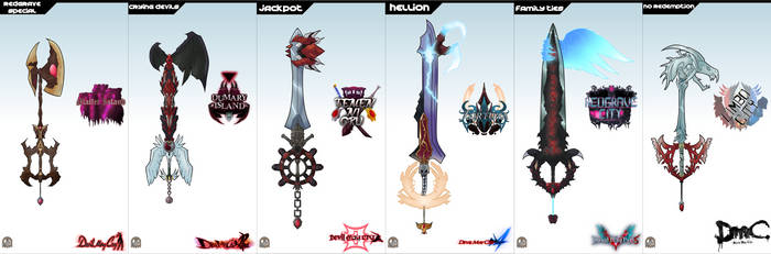 Keyblade Set - Devil May Cry 1