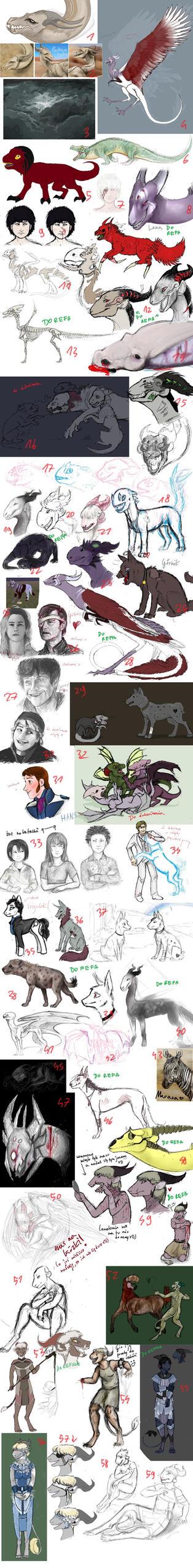 Sketch dump 14 by Hienkaaaaaaa