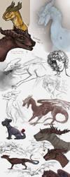 Sketch dump 23 by Hienkaaaaaaa