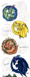 Dragon commissions by Hienkaaaaaaa