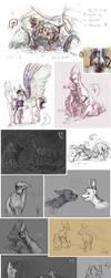 Sketch dump 24 by Hienkaaaaaaa