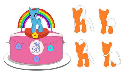 Pony Cake Base by MashaSparkle