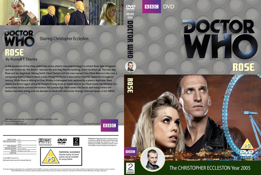 Doctor Who Rose Classic DVD Cover by HaddonArt