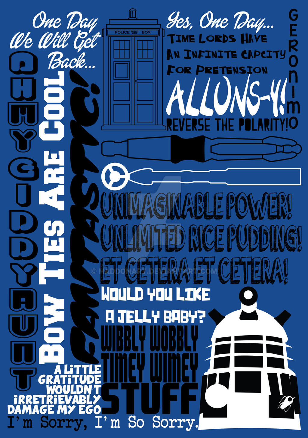 Fantastic Phrases - Doctor Who by HaddonArt