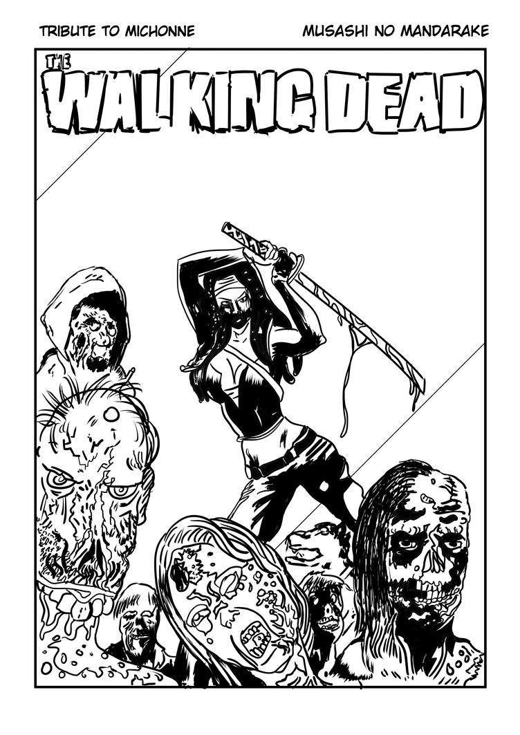 Tribute to Michonne by Musashitokugawa