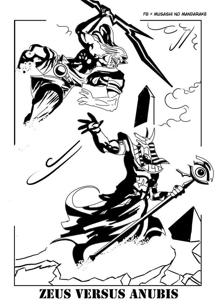 ZEUS VERSUS ANUBIS by Musashitokugawa