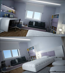 young room..