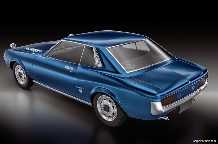 Toyota Celica Gt 1967 Rear By Sergoc58 On Deviantart