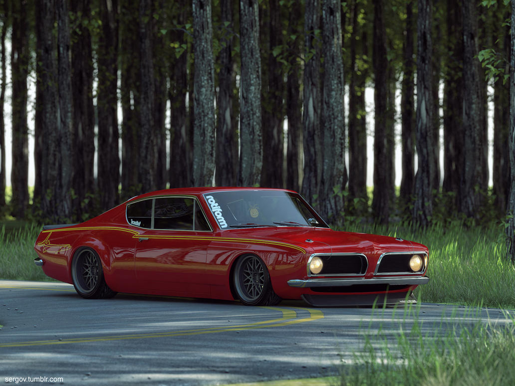 Plymouth Barracuda Stanced CGI by sergoc58