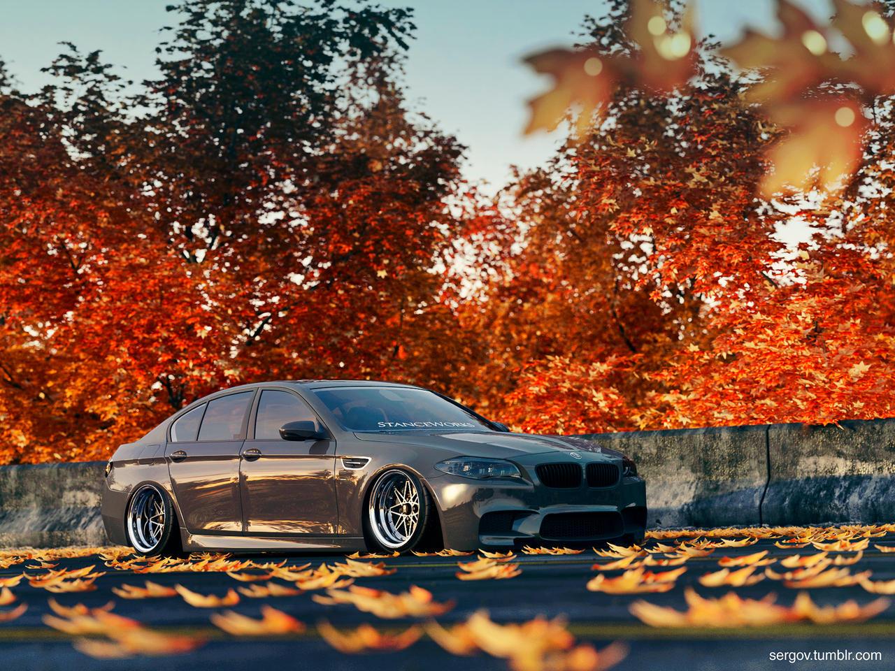 BMW M5 F01 Stanced by sergoc58