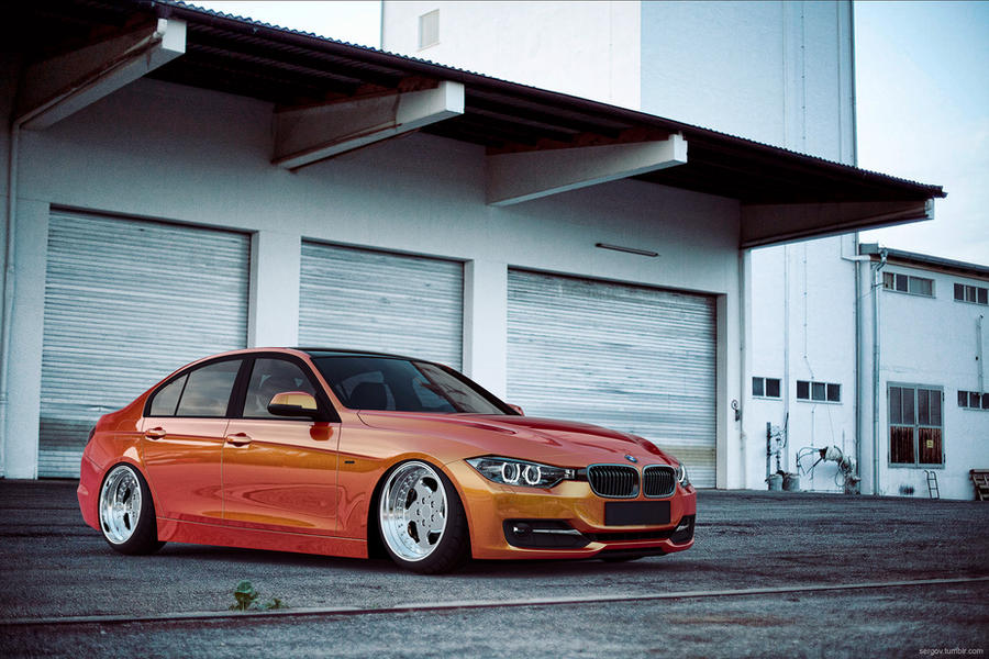 BMW F30 Lowered CGI by sergoc58