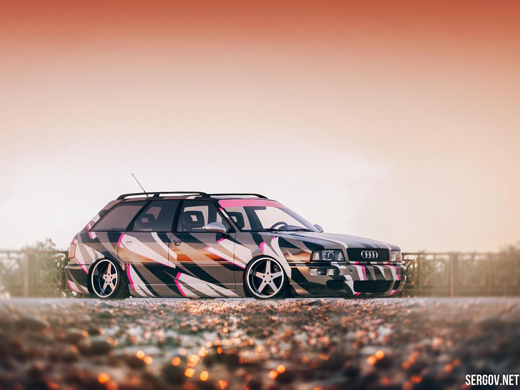 Audi RS2 quattro Camo Vinyl Wrap Stance XXR wheels by sergoc58