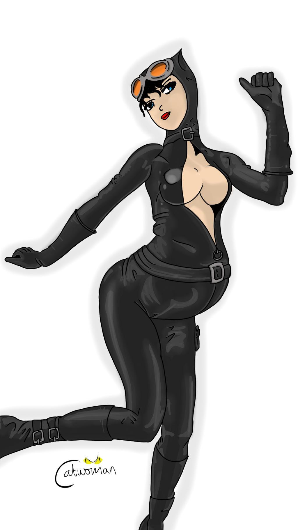 Catwoman Pregnant Costume