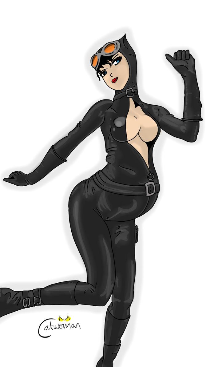 Toon porn catwoman black cat