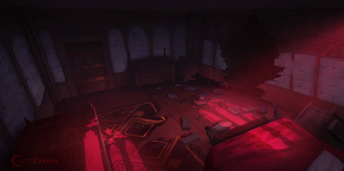 Netflix Castlevania: Carmilla's Room Destroyed