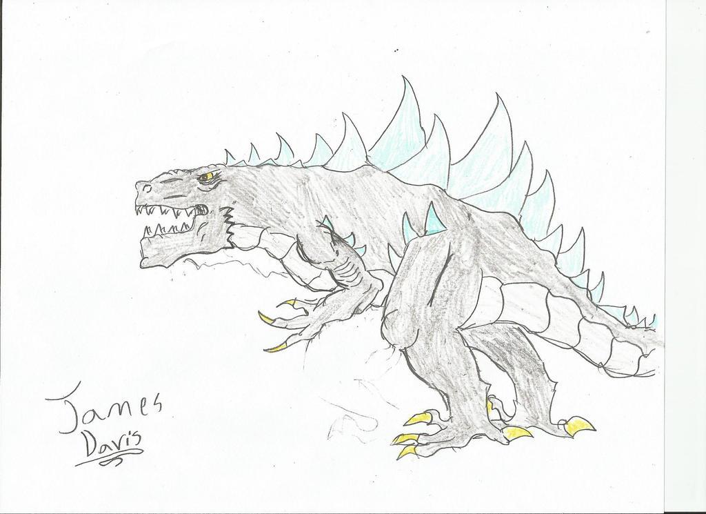 Kaijuverse-Zilla Jr. (mature) by kaijusaurus387 on deviantART