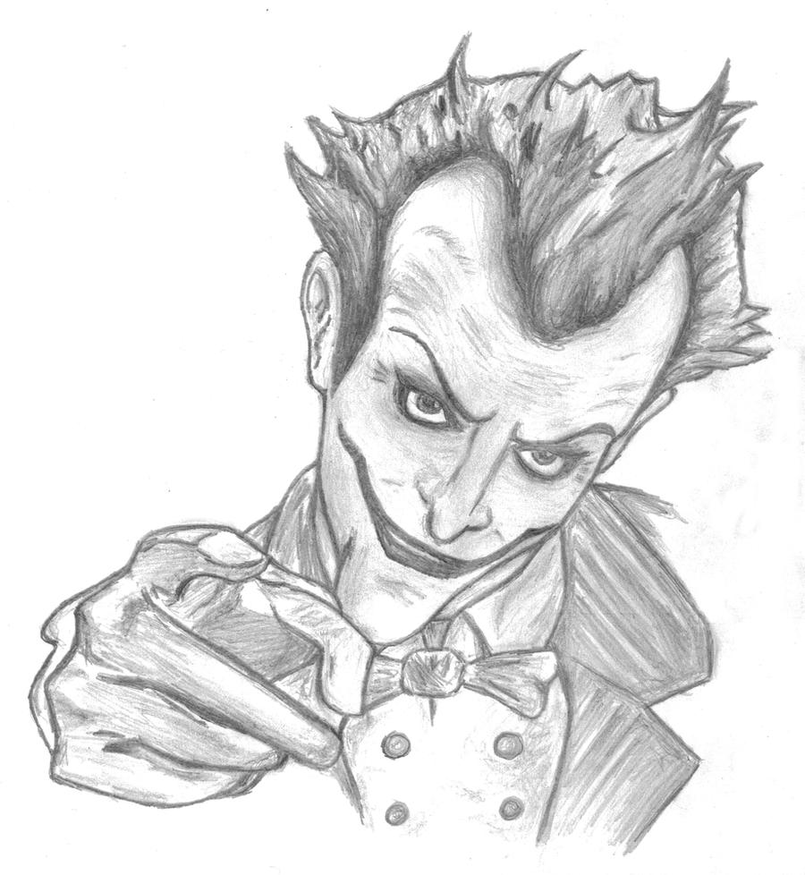 Joker Scribble Drawing : Arkham asylum joker by grrr imma lion on deviantart