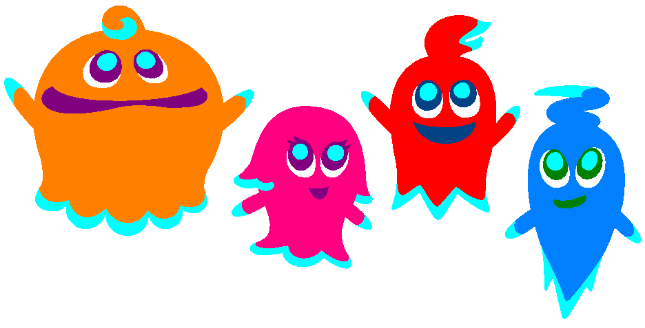 Clyde, Pinky, Blinky, And Inky By AshumBesher On DeviantArt