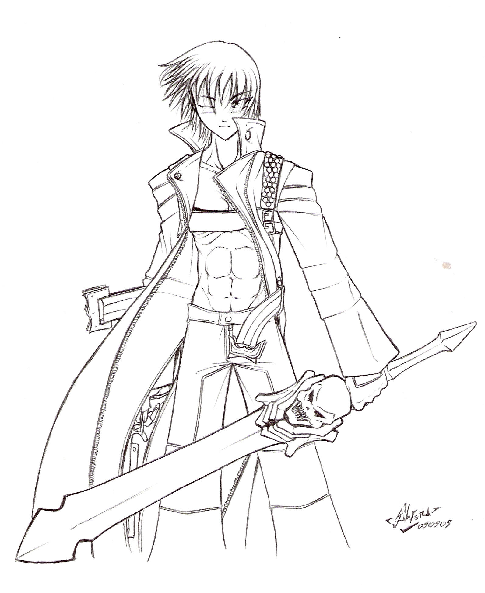 devil may cry coloring pages - photo#17