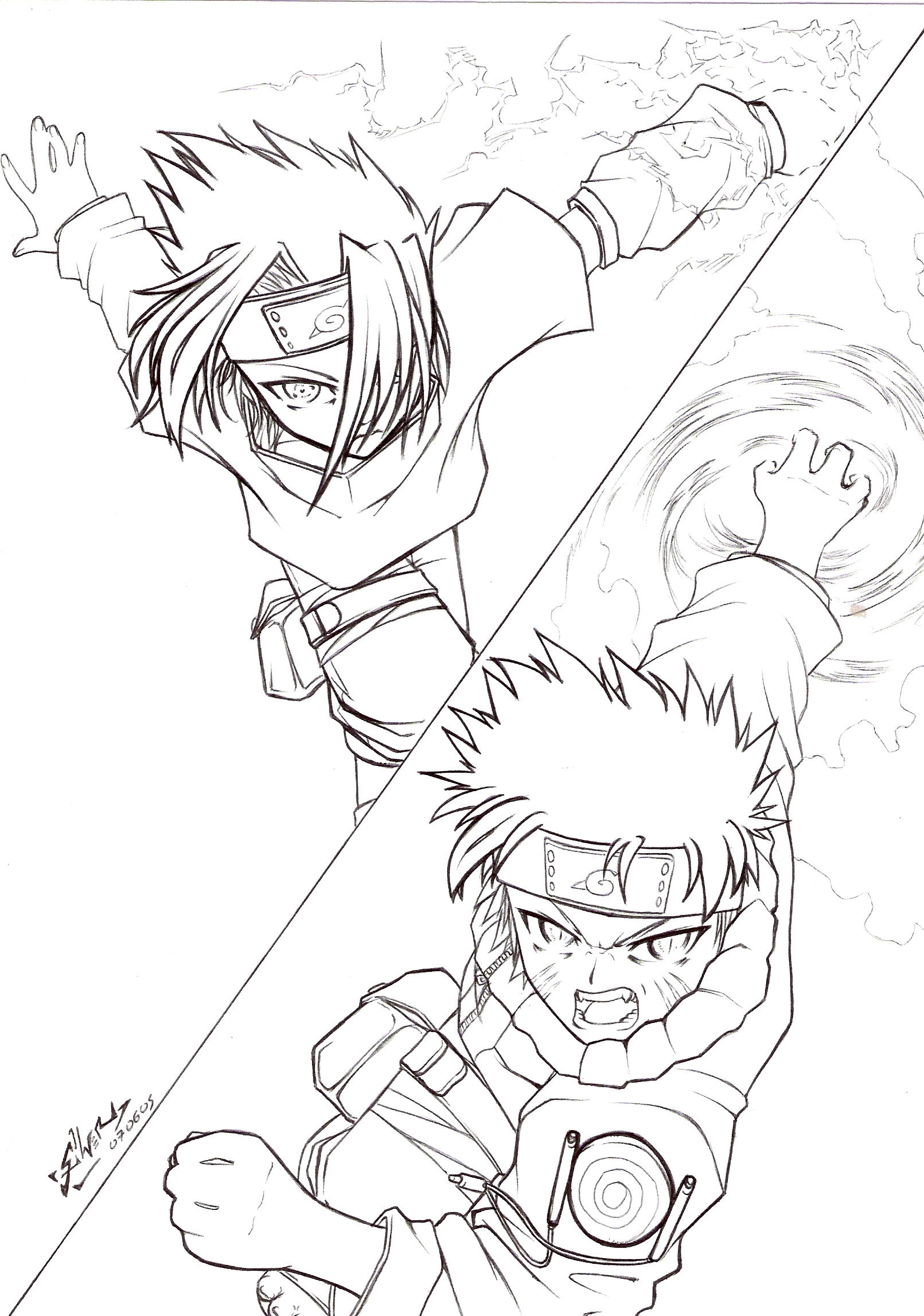 Naruto Rasengan Vs Chidori by