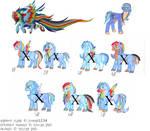MLP breedable X rainbow Flame Close