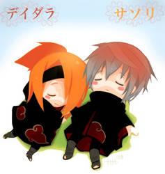 Naruto: Deidara and Sasori by KuteKitsune