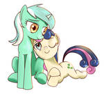 Lyra and Bonbon