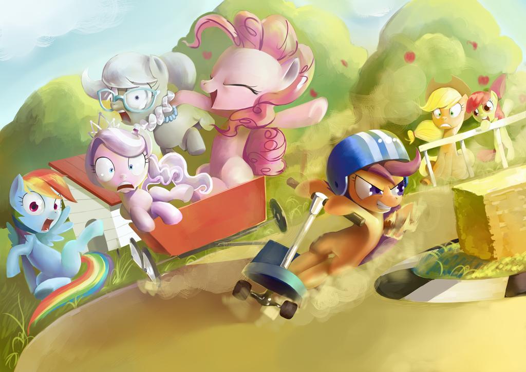 Ponyville Drift by GashibokA