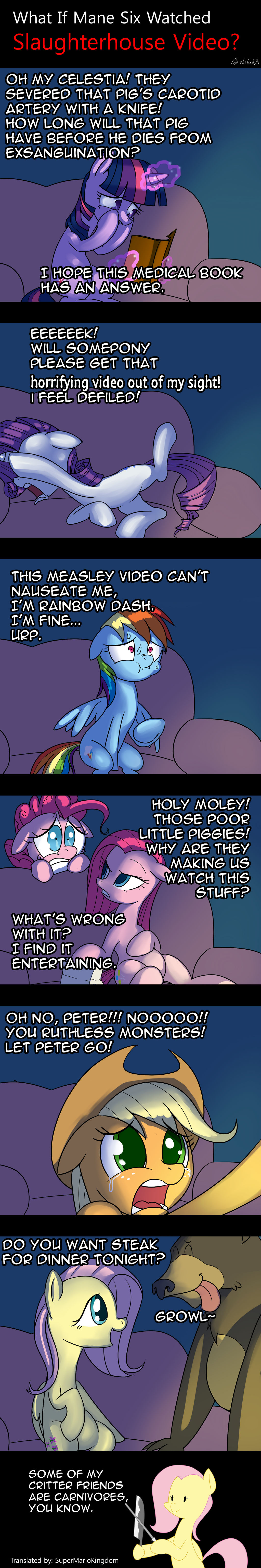 What If Mane Six Watched  Slaughterhouse Video?