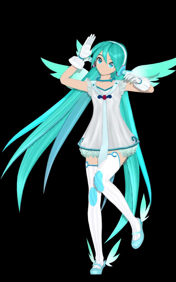 Project Diva Angel Miku by hughn73