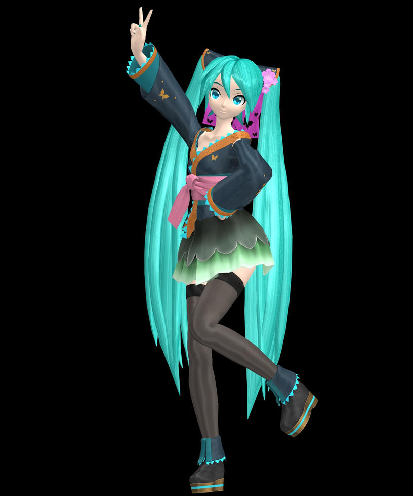 PDAFT Butterfly Miku by hughn73