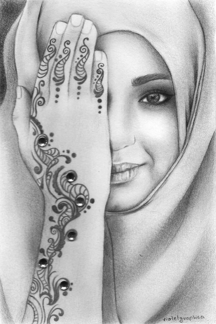 Girl with Henna by violetgraphica