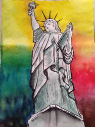 statue of liberty by Paulami9564