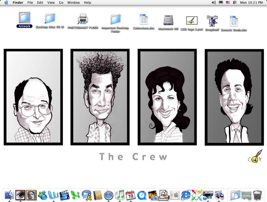 The Seinfeld Crew Desktop by claycox