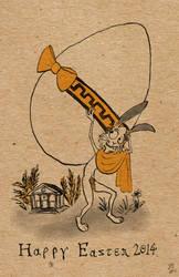 Easter Bunny Goes Greek
