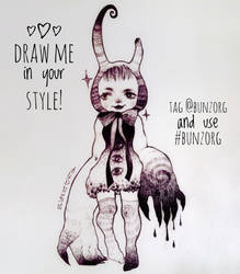 Draw me in your style! by Bunzorg