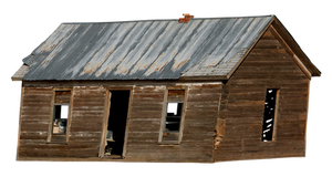 PNG Old Abandoned Home